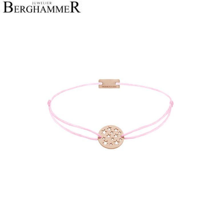 Filo Armband Textil Rosa Sterne 925 Silber roségold vergoldet 21202649