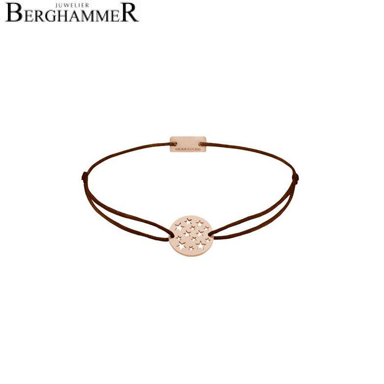 Filo Armband Textil Braun Sterne 925 Silber roségold vergoldet 21202653