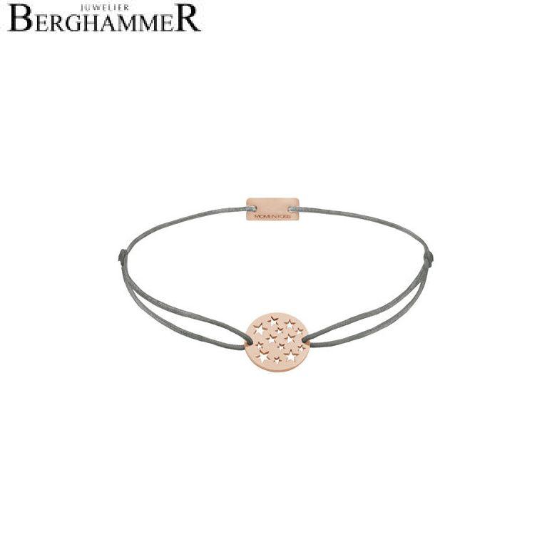 Filo Armband Textil Anthrazit Sterne 925 Silber roségold vergoldet 21202655