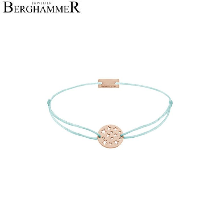 Filo Armband Textil Mint Sterne 925 Silber roségold vergoldet 21202657