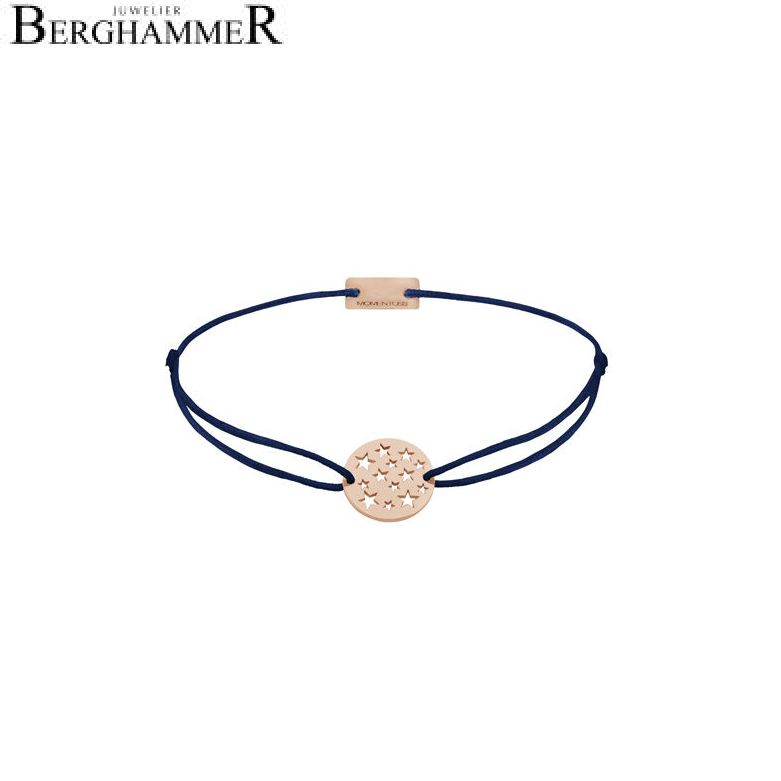 Filo Armband Textil Dunkelblau Sterne 925 Silber roségold vergoldet 21202661