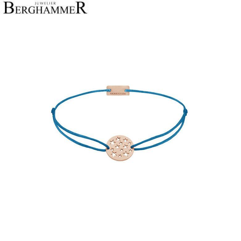 Filo Armband Textil Petrol Sterne 925 Silber roségold vergoldet 21202662