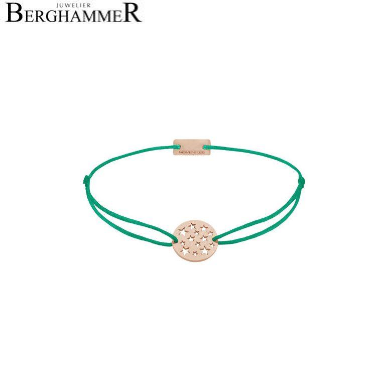 Filo Armband Textil Grasgrün Sterne 925 Silber roségold vergoldet 21202663