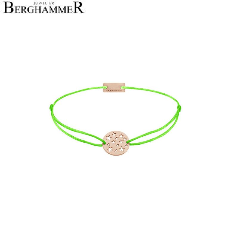 Filo Armband Textil Neon-Grün Sterne 925 Silber roségold vergoldet 21202664