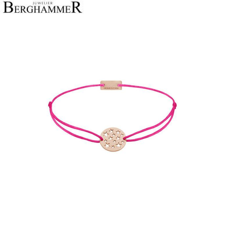 Filo Armband Textil Neon-Pink Sterne 925 Silber roségold vergoldet 21202668
