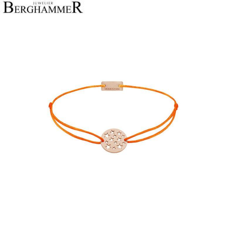 Filo Armband Textil Neon-Orange Sterne 925 Silber roségold vergoldet 21202669