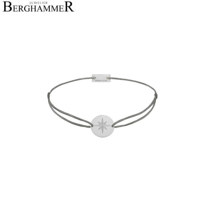 Filo Armband Textil Anthrazit 925 Silber rhodiniert 21202825