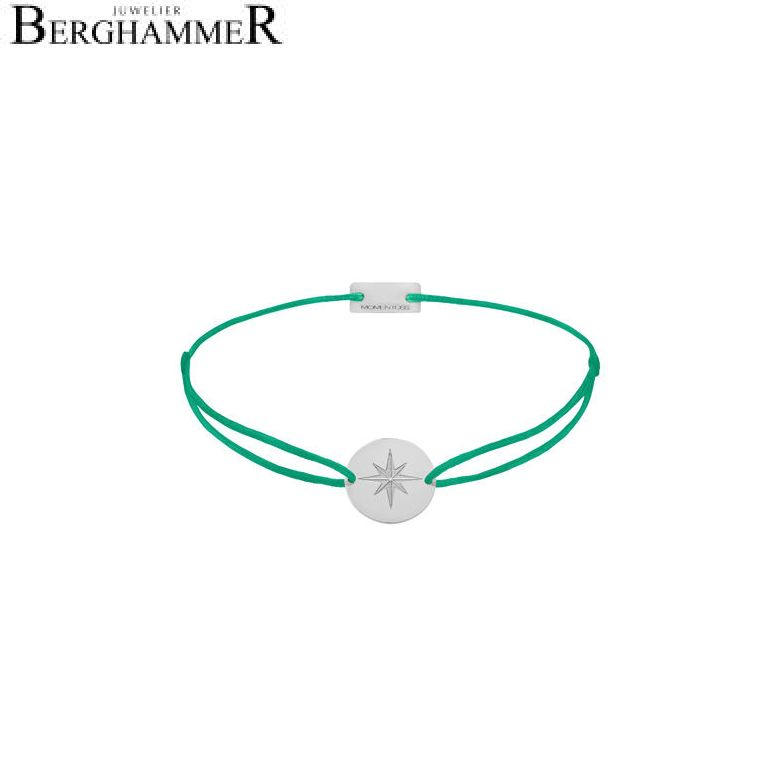 Filo Armband Textil Grasgrün 925 Silber rhodiniert 21202833