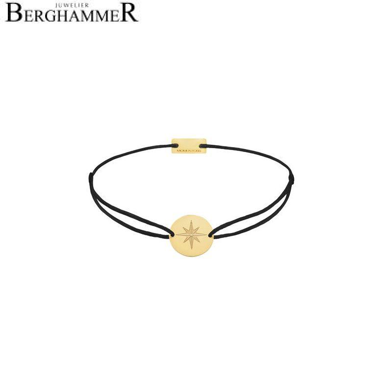 Filo Armband Textil Schwarz 925 Silber gelbgold vergoldet 21202841