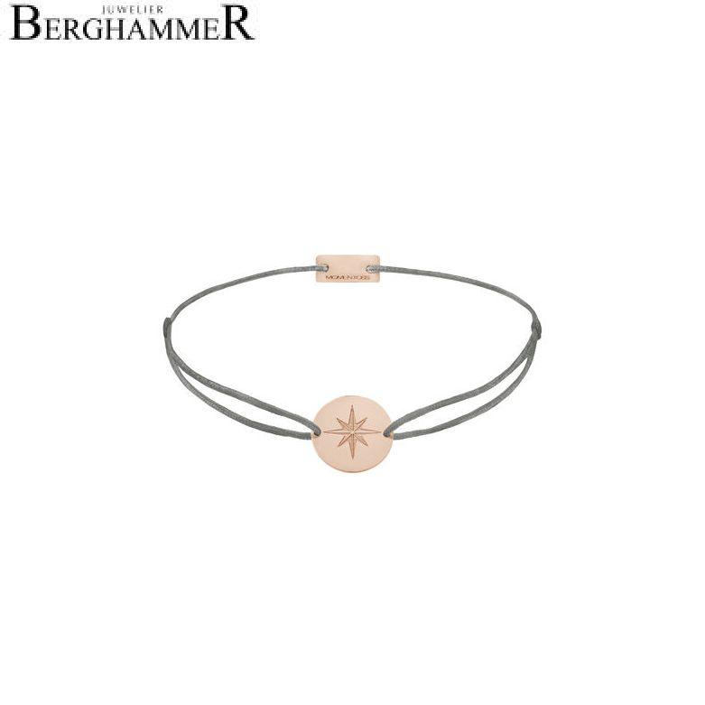 Filo Armband Textil Anthrazit 925 Silber roségold vergoldet 21202873