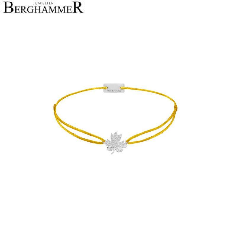 Filo Armband Textil Gelb 925 Silber rhodiniert 21202893