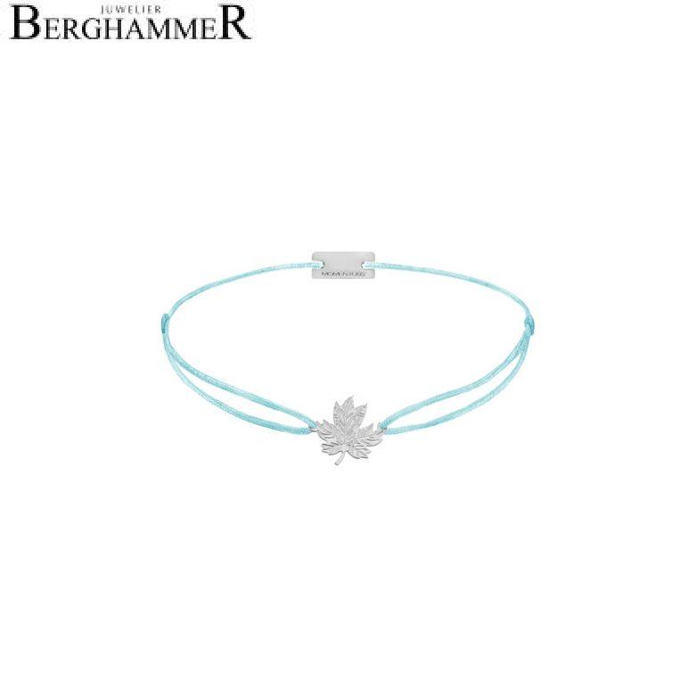 Filo Armband Textil Hellblau 925 Silber rhodiniert 21202901