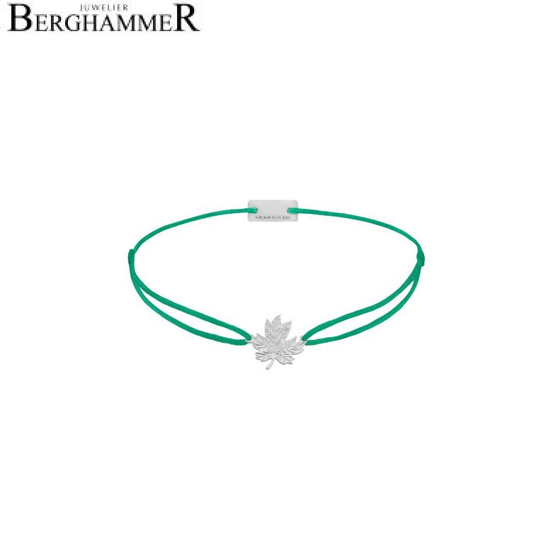Filo Armband Textil Grasgrün 925 Silber rhodiniert 21202905