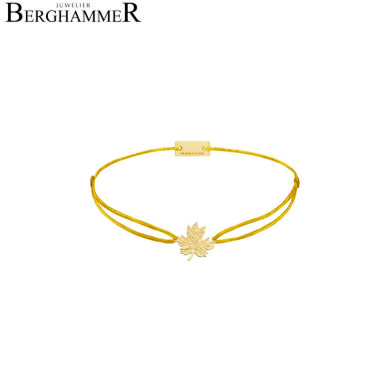 Filo Armband Textil Gelb 925 Silber gelbgold vergoldet 21202917