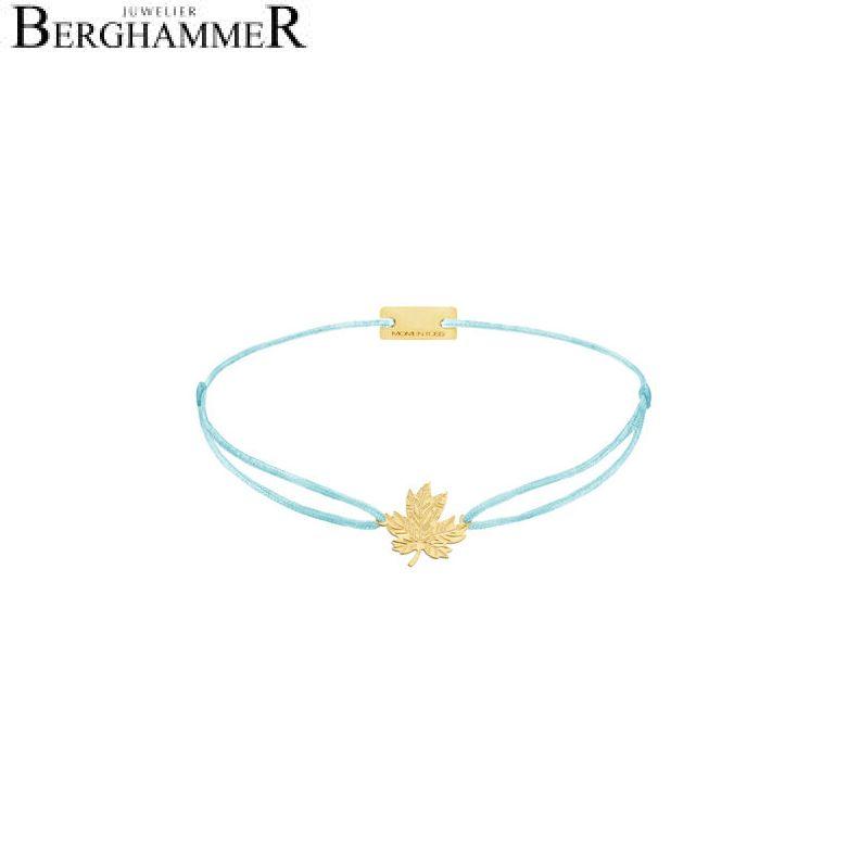 Filo Armband Textil Hellblau 925 Silber gelbgold vergoldet 21202925