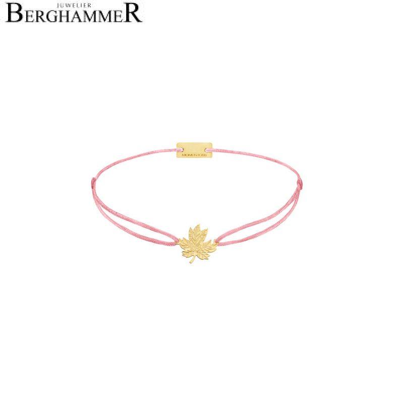 Filo Armband Textil Fuchsia 925 Silber gelbgold vergoldet 21202933
