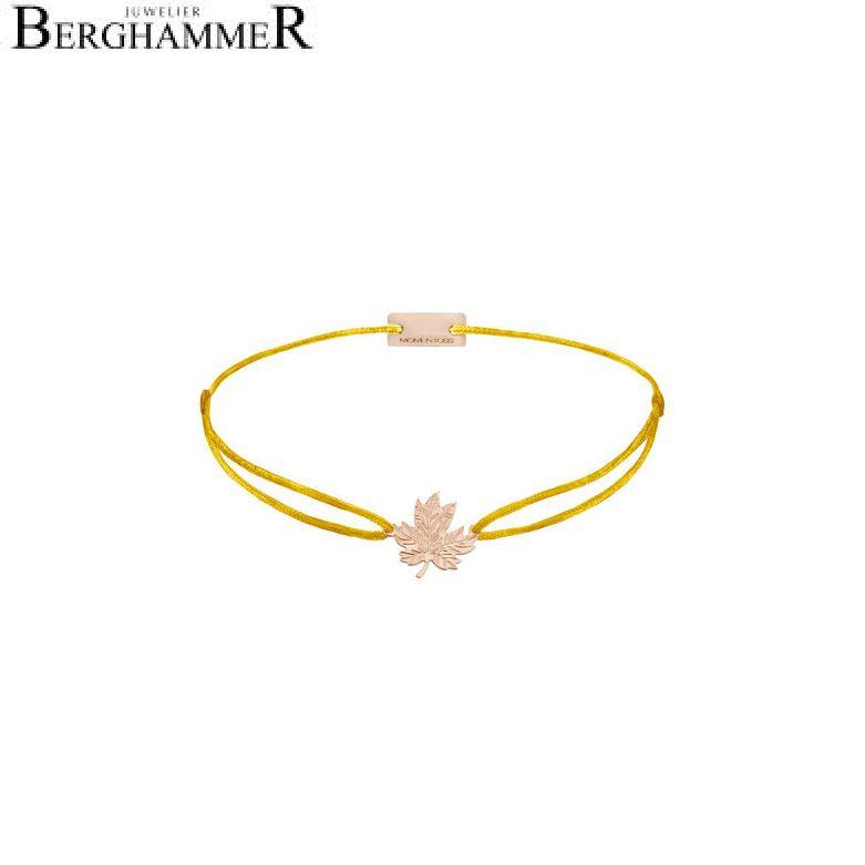 Filo Armband Textil Gelb 925 Silber roségold vergoldet 21202941
