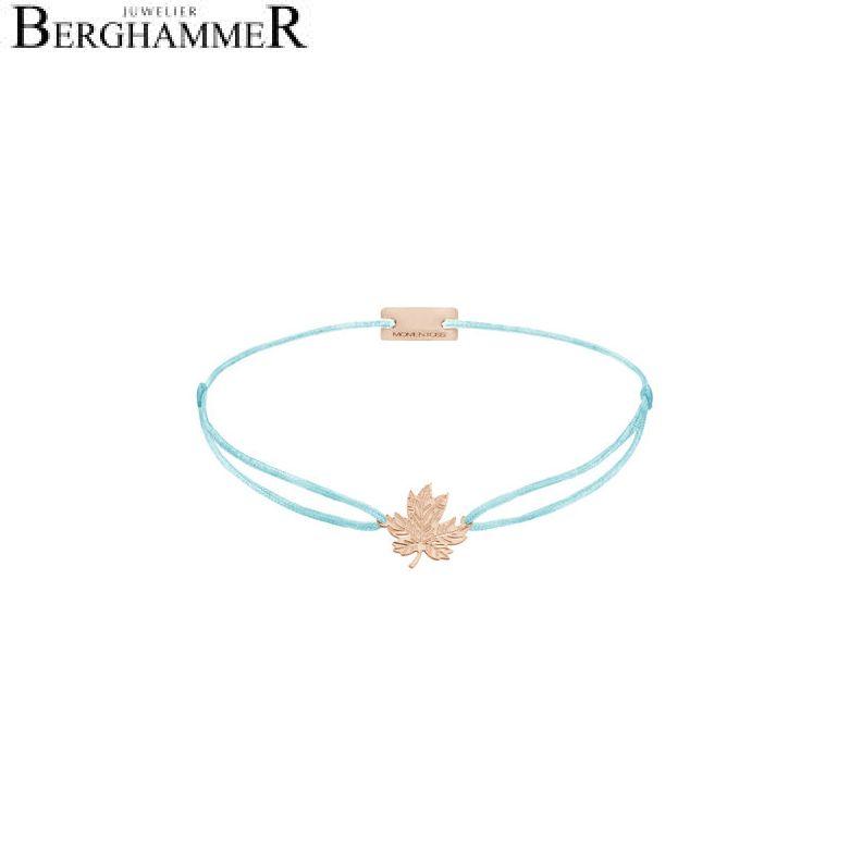Filo Armband Textil Hellblau 925 Silber roségold vergoldet 21202949