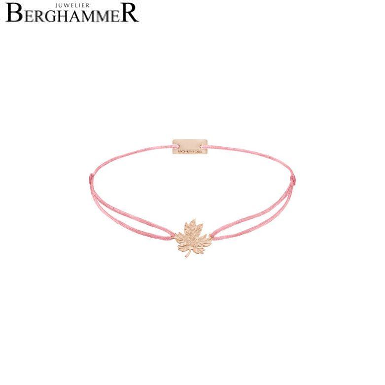 Filo Armband Textil Fuchsia 925 Silber roségold vergoldet 21202957