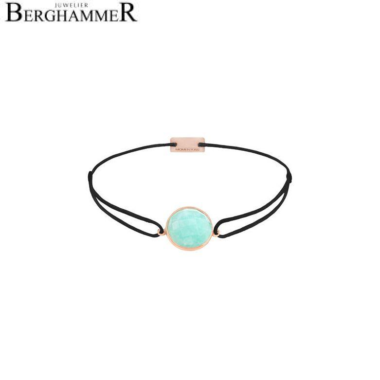 Filo Armband Textil Schwarz 925 Silber roségold vergoldet 21202961