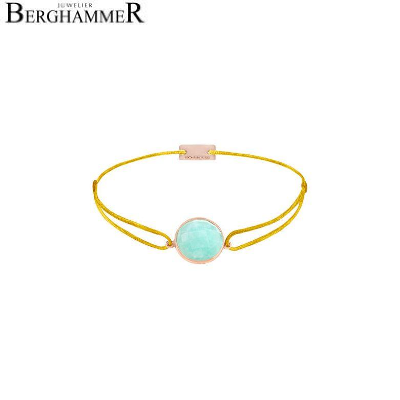Filo Armband Textil Gelb 925 Silber roségold vergoldet 21202965