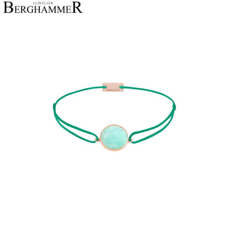 Filo Armband Textil Grasgrün 925 Silber roségold vergoldet 21202977