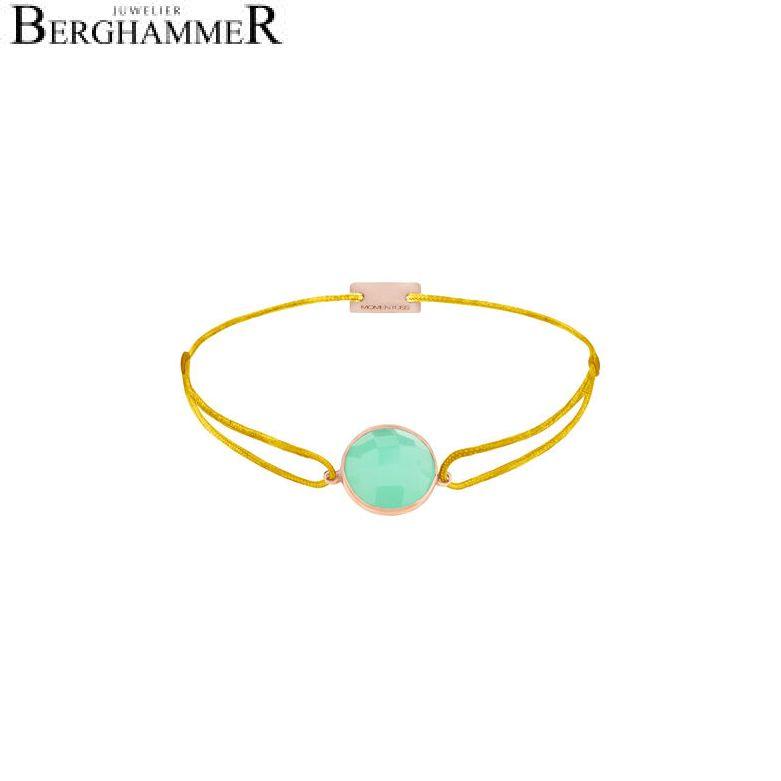 Filo Armband Textil Gelb 925 Silber roségold vergoldet 21202989