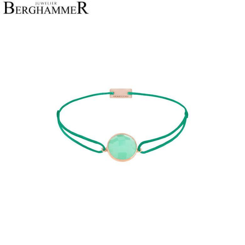 Filo Armband Textil Grasgrün 925 Silber roségold vergoldet 21203001