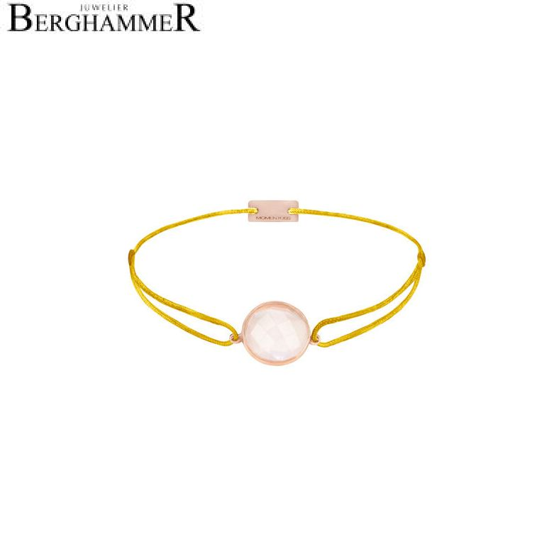 Filo Armband Textil Gelb 925 Silber roségold vergoldet 21203013