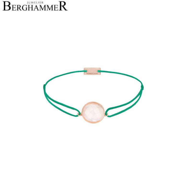 Filo Armband Textil Grasgrün 925 Silber roségold vergoldet 21203025