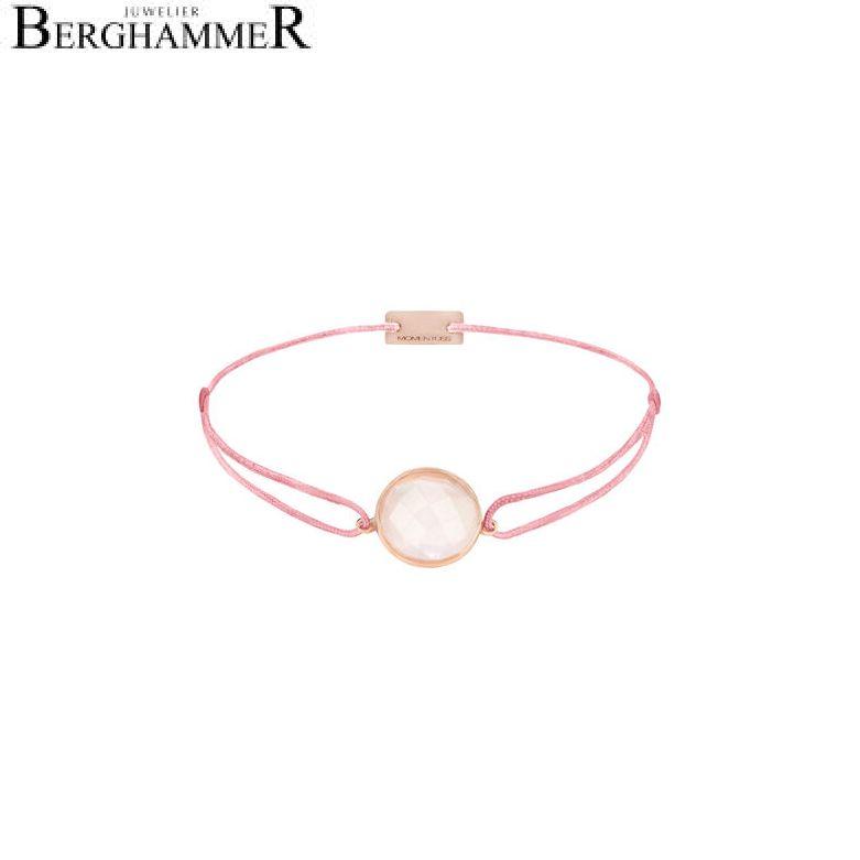 Filo Armband Textil Fuchsia 925 Silber roségold vergoldet 21203029