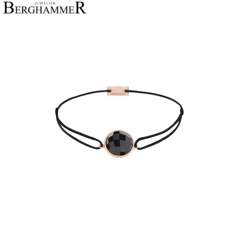 Filo Armband Textil Schwarz 925 Silber roségold vergoldet 21203033