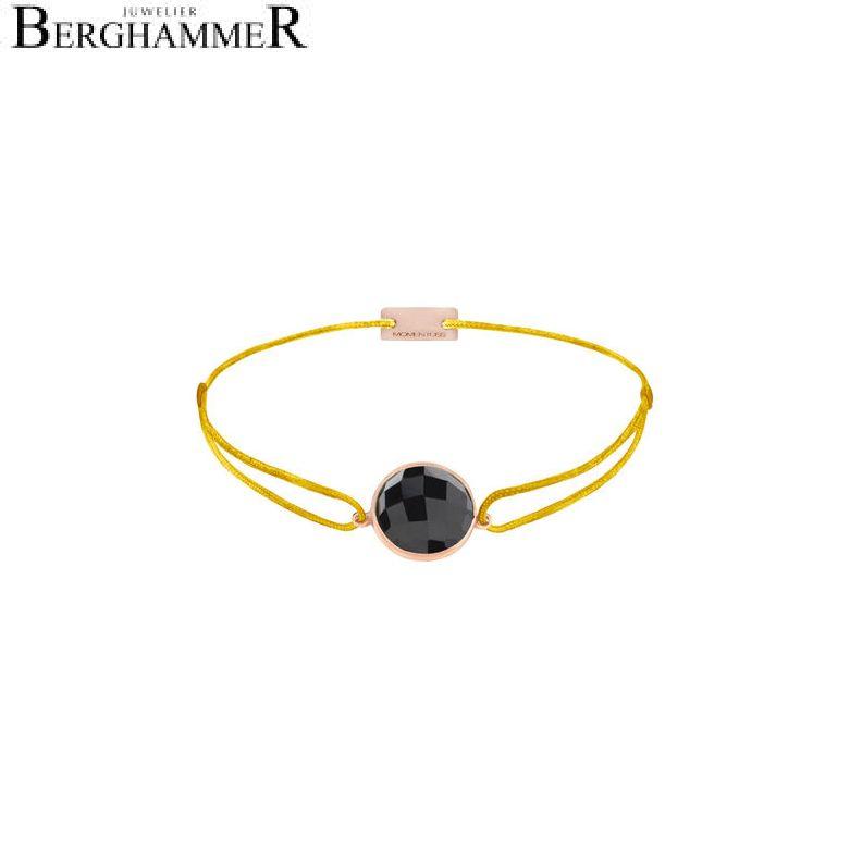 Filo Armband Textil Gelb 925 Silber roségold vergoldet 21203037