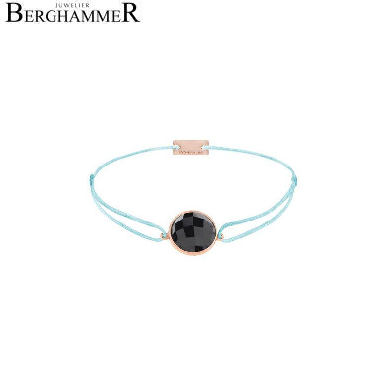 Filo Armband Textil Hellblau 925 Silber roségold vergoldet 21203045