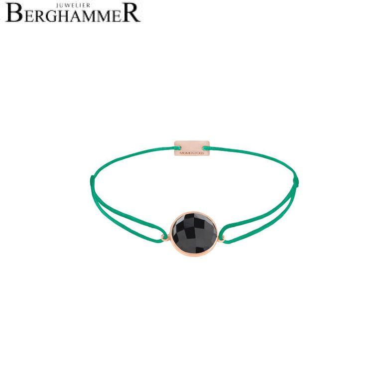 Filo Armband Textil Grasgrün 925 Silber roségold vergoldet 21203049