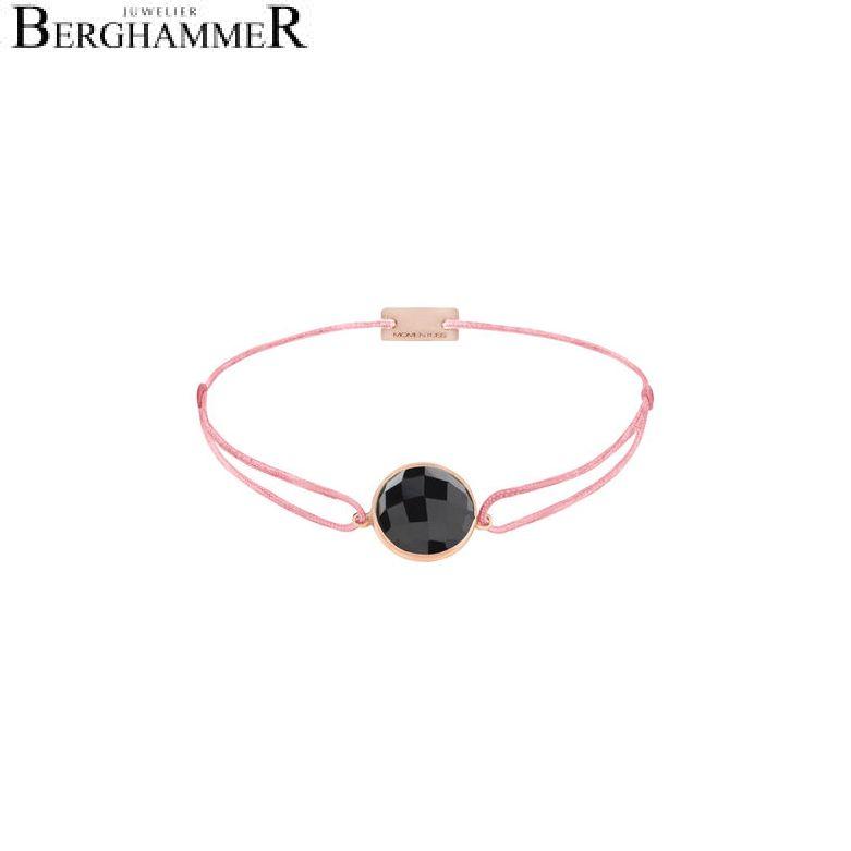 Filo Armband Textil Fuchsia 925 Silber roségold vergoldet 21203053