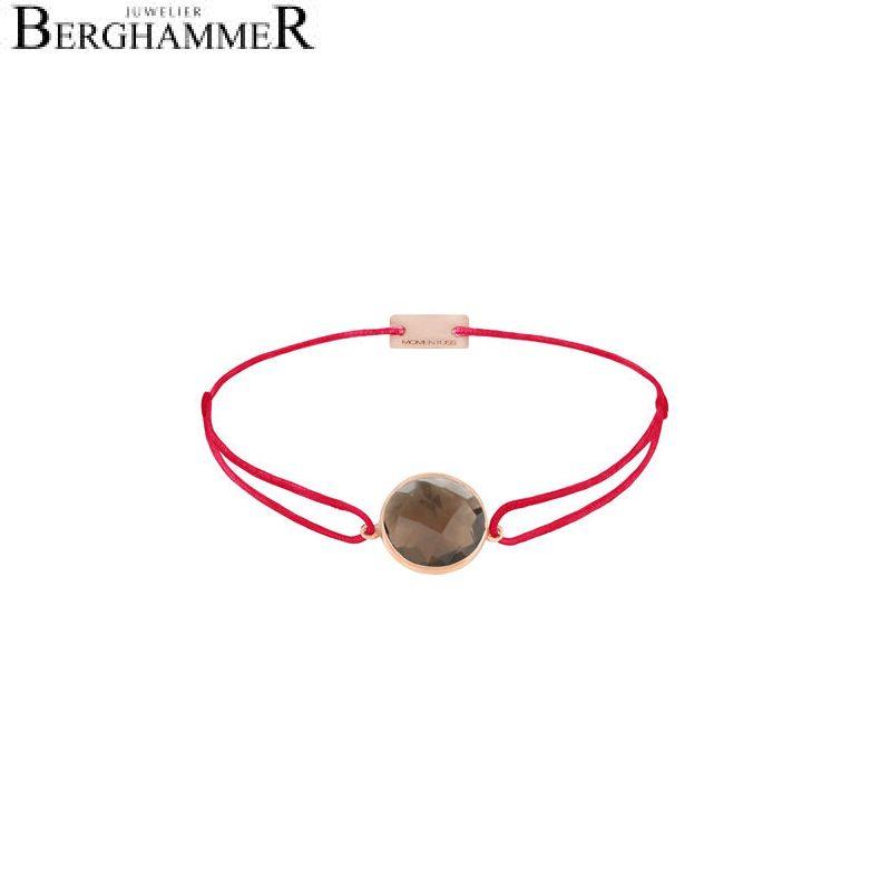 Filo Armband Textil Rot 925 Silber roségold vergoldet 21203056