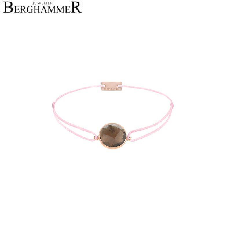 Filo Armband Textil Rosa 925 Silber roségold vergoldet 21203059