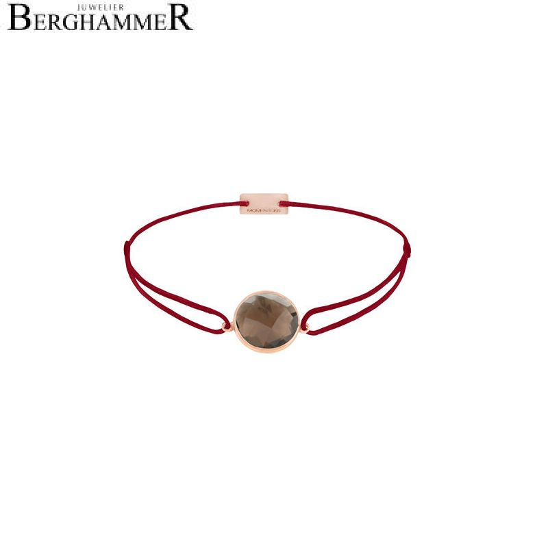 Filo Armband Textil Weinrot 925 Silber roségold vergoldet 21203060