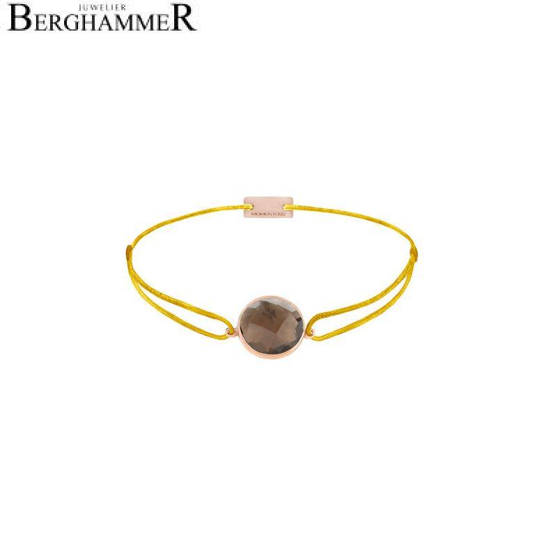 Filo Armband Textil Gelb 925 Silber roségold vergoldet 21203061