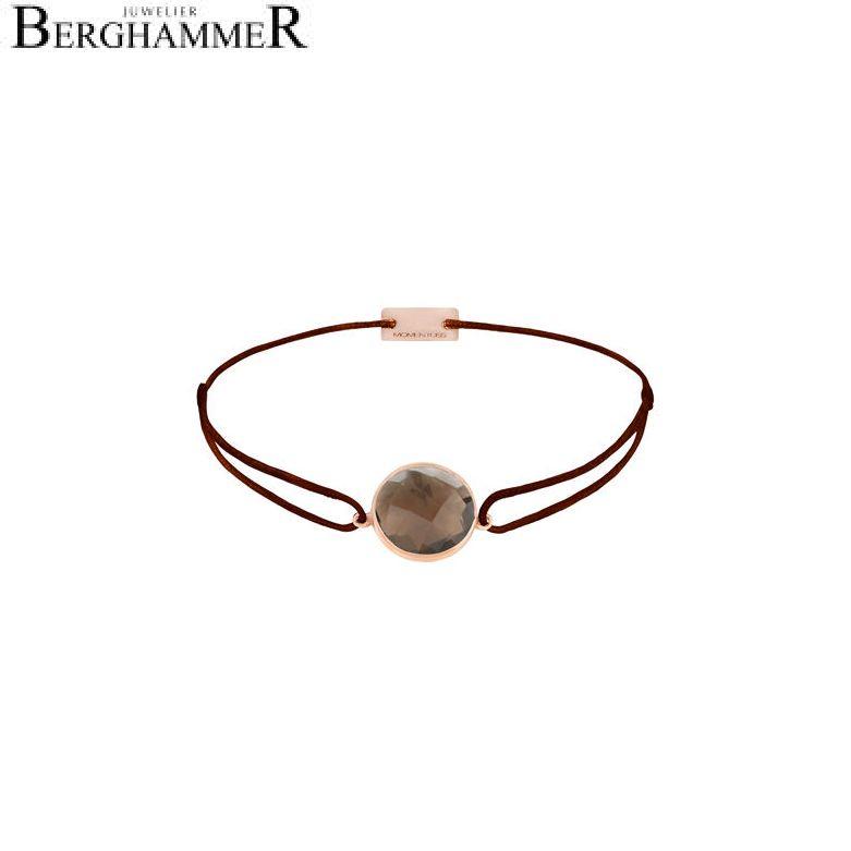 Filo Armband Textil Braun 925 Silber roségold vergoldet 21203063