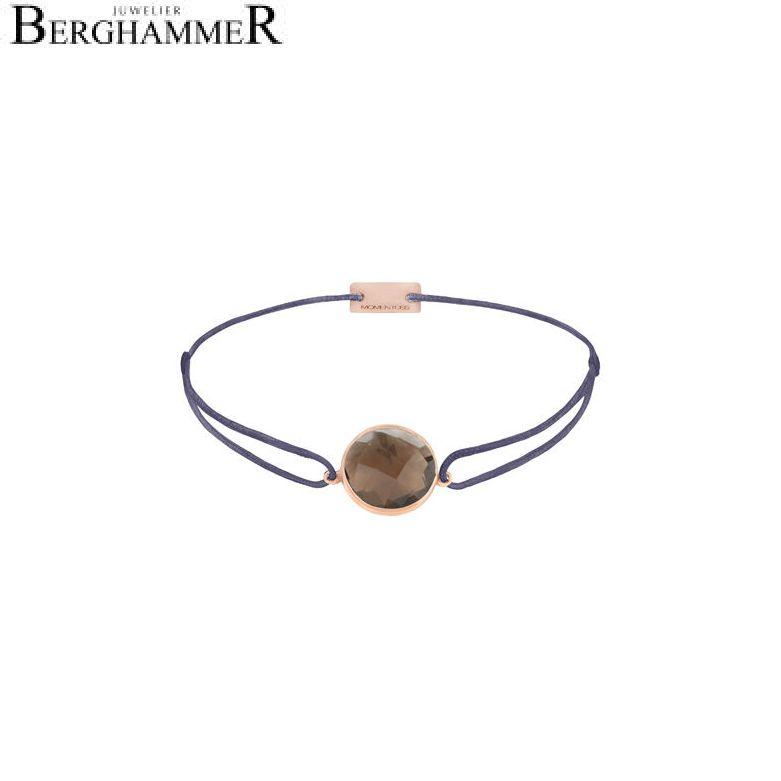 Filo Armband Textil Grau-Lila 925 Silber roségold vergoldet 21203064