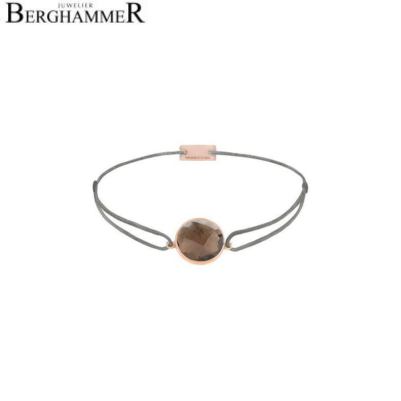 Filo Armband Textil Anthrazit 925 Silber roségold vergoldet 21203065