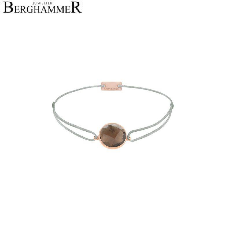 Filo Armband Textil Hellgrau 925 Silber roségold vergoldet 21203066