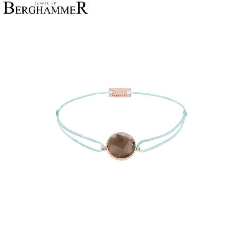 Filo Armband Textil Mint 925 Silber roségold vergoldet 21203067