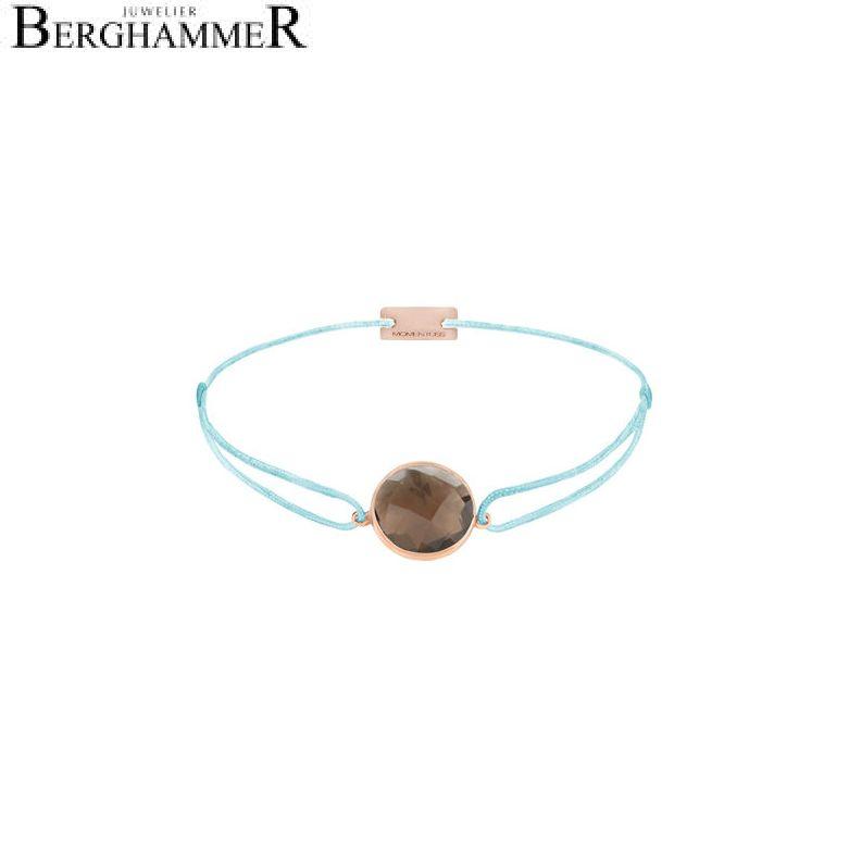 Filo Armband Textil Hellblau 925 Silber roségold vergoldet 21203069