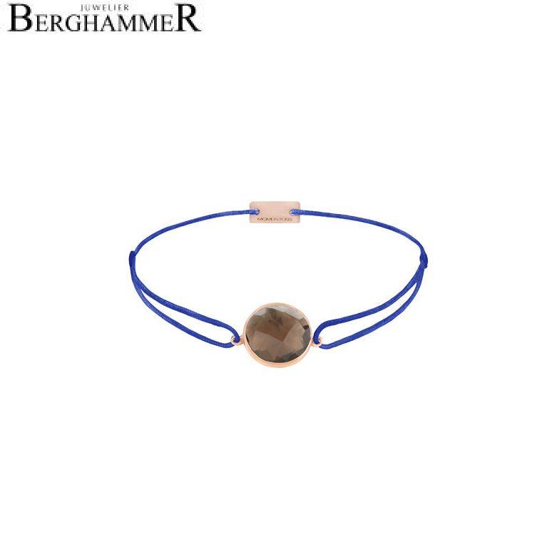 Filo Armband Textil Blitzblau 925 Silber roségold vergoldet 21203070