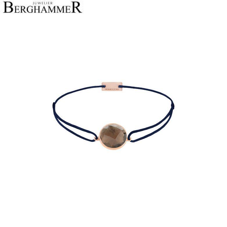 Filo Armband Textil Dunkelblau 925 Silber roségold vergoldet 21203071