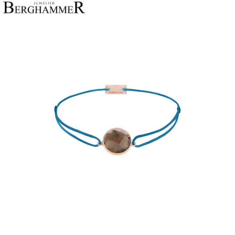 Filo Armband Textil Petrol 925 Silber roségold vergoldet 21203072