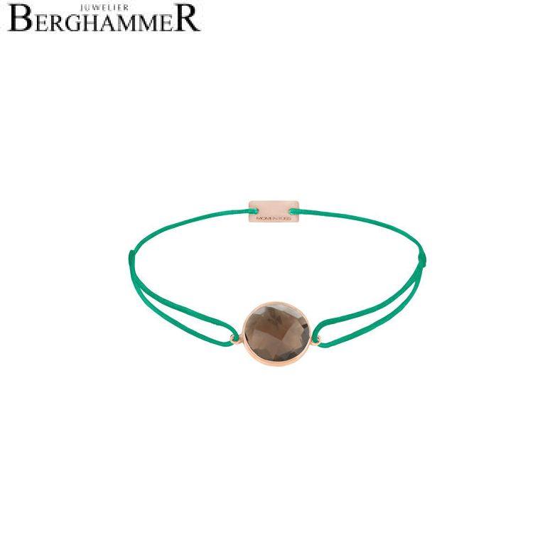 Filo Armband Textil Grasgrün 925 Silber roségold vergoldet 21203073